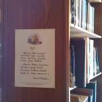 ห้องสมุด .. อันการงานคือค่าของมนุษย์